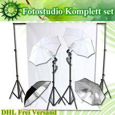 Profi Fotostudio Stativ Set Studioleuchte Fotolampe Hintergrund Komplett Weiss