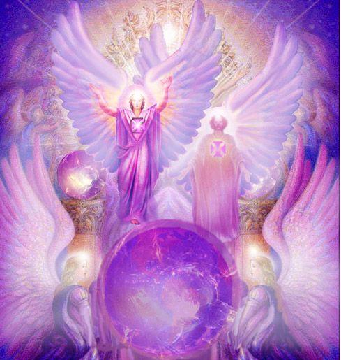 Irradiação do Templo da Transmutação - Chama Violeta -Arcanjo Ezequiel e Ametista