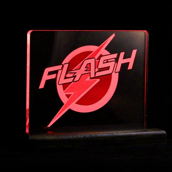 "This new #FLASH desk light.  Is a fan made #LED desk light. It was inspired by the FLASH TV show It stands about 5.5"" inches tall, and is 7"" inches at the base.  It is lite u... #nerdy #giftidea #led #geeky #superhero #housewares #lighting #flash #superman #batman #dc #comic #nightlight"