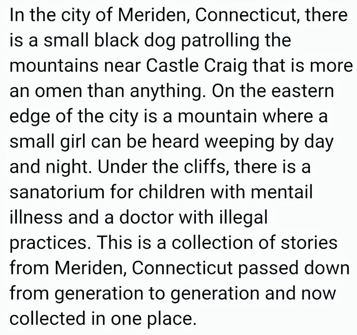 ~The Black Dog of the Hanging Hills  Meriden, Connecticut~