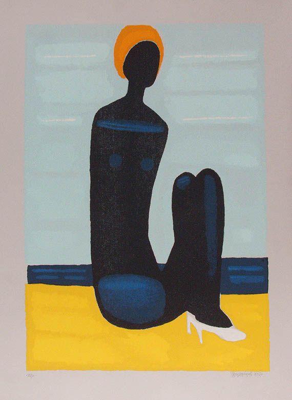 Jerzy Nowosielski | Czarna pływaczka, 1998 |