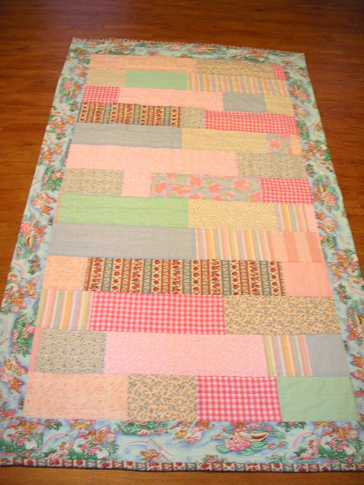 1st attempt at making a patchwork quilt, made for my granddaughters naming day 2010