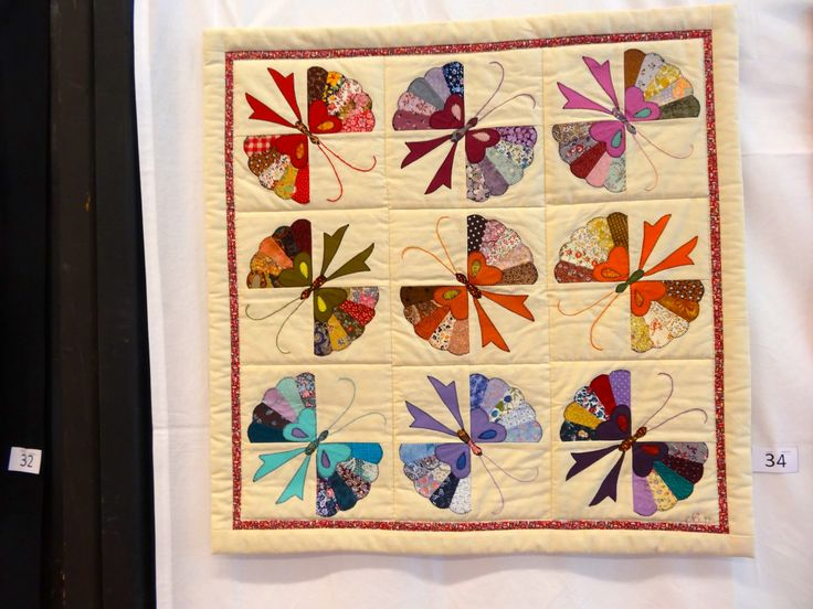 butterfly quilt using dresden plate templates & 213 best Dresden Plate images on Pinterest | Dresden plate quilts ...