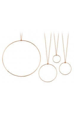 Ginette NY - Collier cercle or rose