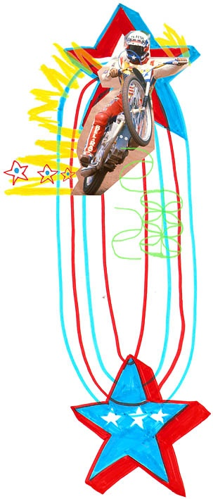 SB ♥ James Chappell illustration of Bruce Penhall for SIDEBURN #4