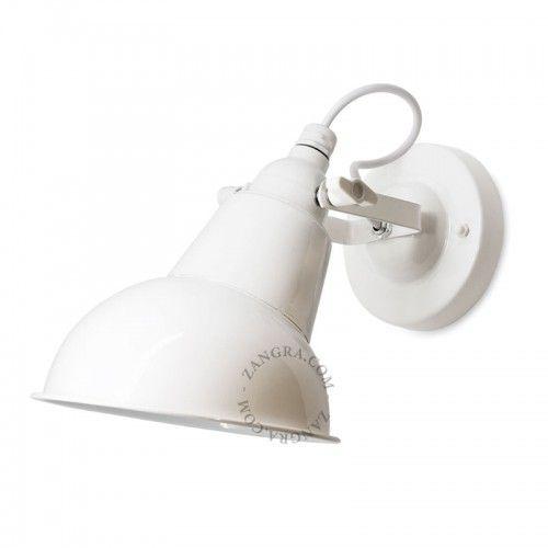 biały metalowy kinkiet vintage  Zangra 055-4