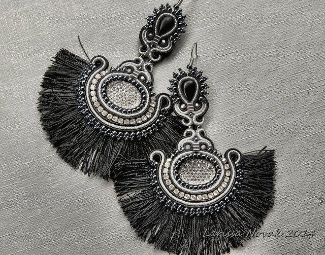 Long Soutache Earrings   Flickr - Photo Sharing!