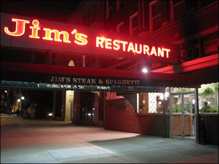 Jim's Steak & Spaghetti - Huntington, West Virginia - Best spaghetti EVER! This is where my mom's recipe came from.