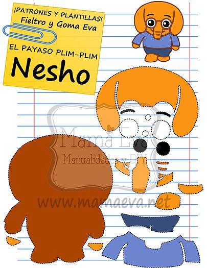 Plantillas personajes dibujos animados actuales