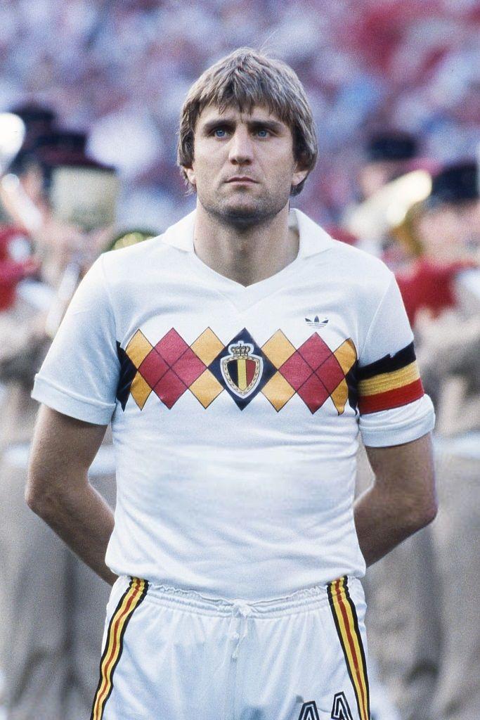 Jan Ceulemans during the Football European Championship ( Euro 1984 ) between Denmark and Belgium at Stade La Meinau, Strasbourg, France on 19 June, 1984