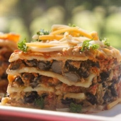Black Bean Lasagna. You won't miss the meat in this family favorite