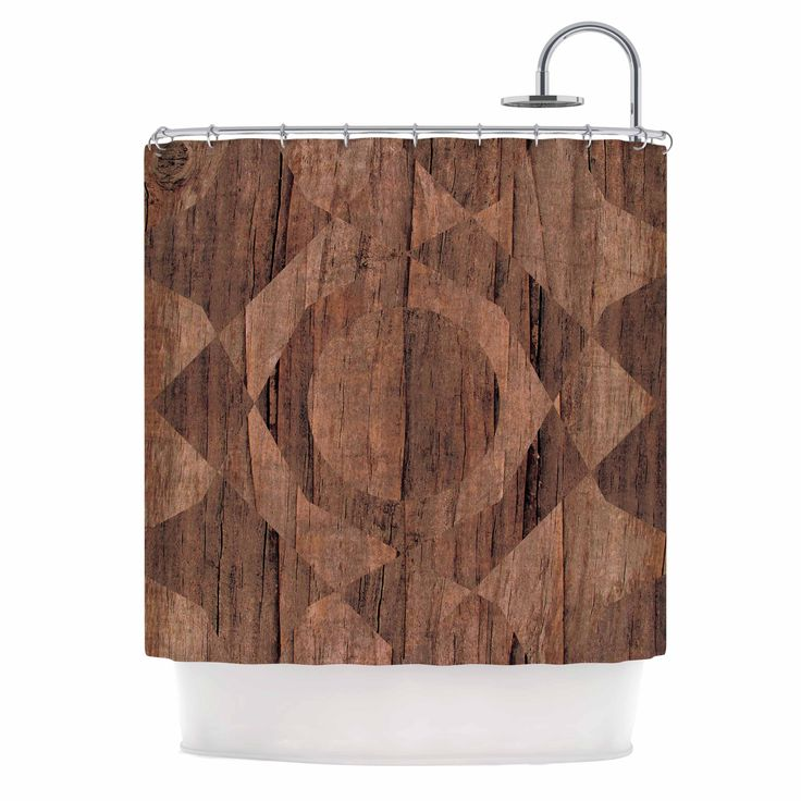 "Kess InHouse Matt Eklund ""Indigenous"" Beige Brown Shower Curtain"
