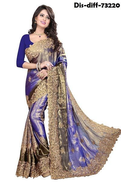 Topnotch Georgette Navy Blue Patch Border Work Saree  Click here to Buy - https://goo.gl/E2QDGl or any inquiry call us @ +91 9660660088   #GeorgetteSaree #NavyBlueSaree #PatchBorderWorkSaree #TopnotchGeorgetteSaree #DesignerSaree #PartywearSaree #Sare