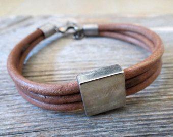 Men's Bracelet Men's Nautical Bracelet Men's Brown by Galismens