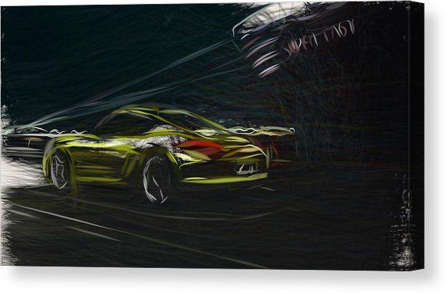 Porsche Cayman R Sports Car Poster Art Print