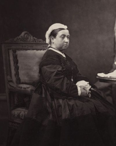 Queen Victoria in mourning dress. Mourned for 40 years for her dear Albert.