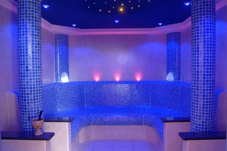 Wall Light For Steam Room : IP Rated Step Lighting in the David Lloyd Sauna Room #Relax #LED #Lighting #Interiordesign # ...