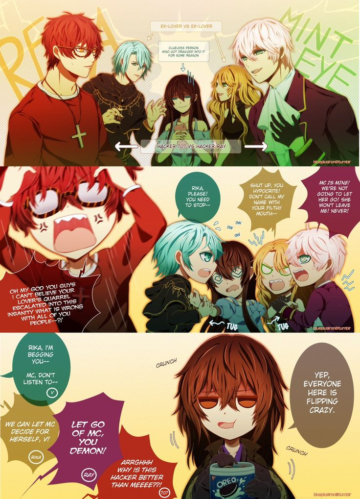 Mystic Messenger 707\Seven\Saeyoung . V . MC . Rika . Vanderwood . Ray\Saeran\Unknown