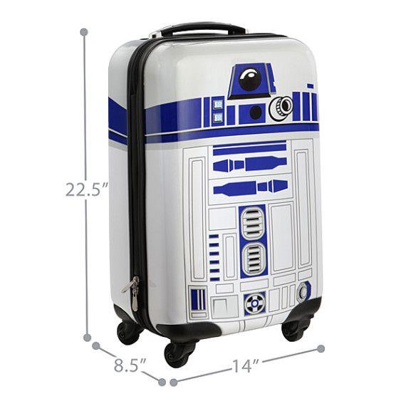 Star Wars. MALETA PEQUEÑA CON RUEDAS R2-D2