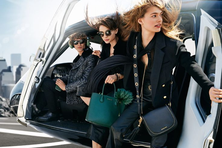 MICHAEL Michael Kors Fall/Winter 2016 campaign Emmy Rappe, Romy Schonberger and Sven de Vries by Mario Testino