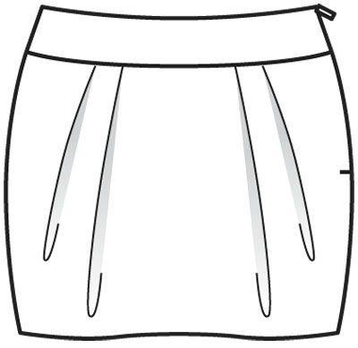 Modèle jupe 3A - burda couture facile été 2012