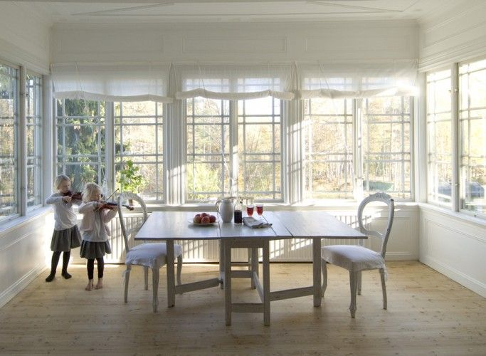 White, simple, easy to take care, uncluttered, plenty of light.