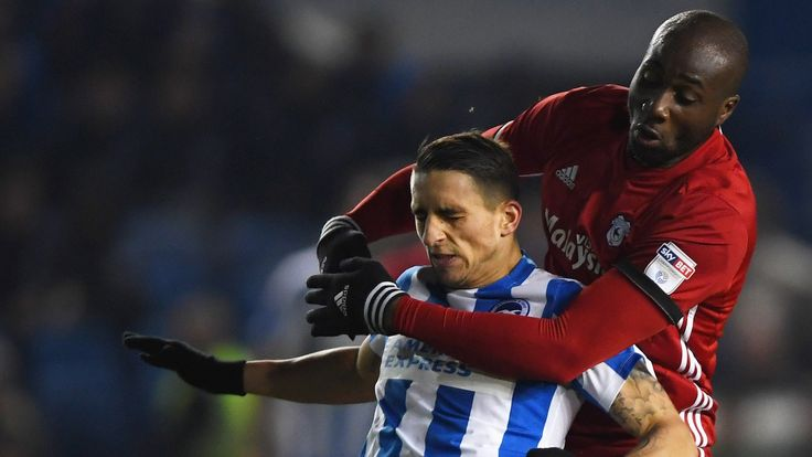 Brighton & Hove Albion 1-0 Cardiff City    Brighton went back to the top of the Championship thanks to Tomer Hemed's winner against a determined Cardiff.   http://www.bbc.co.uk/sport/football/38642752