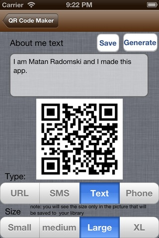 QR Code Maker for iPhone