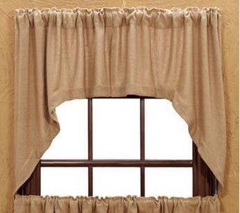 Burlap Natural Swag Curtains