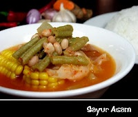 Sayur Asem - Jawa Barat  Dimakan dengan nasi putih hangat, ikan asin & sambal terasi...hmmmm.....
