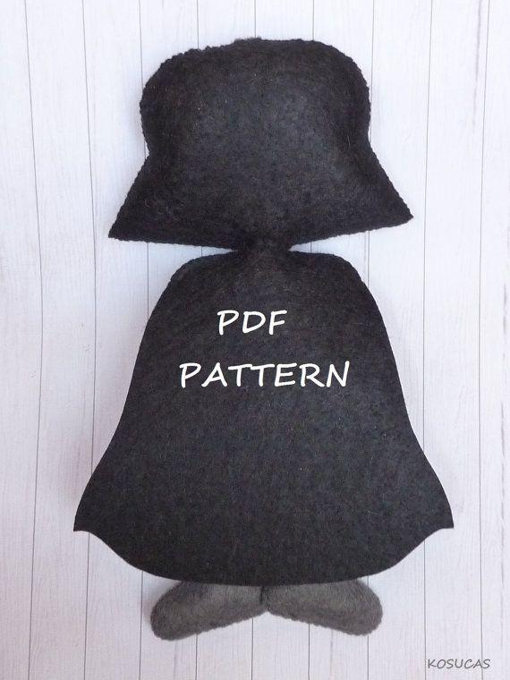 Patrón PDF para hacer un fieltro oscuro Vader. por Kosucas en Etsy