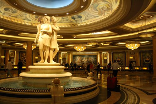 Caesars Palace, Las Vegas, NV. Been there a few times but this was the best hotel stay ever!