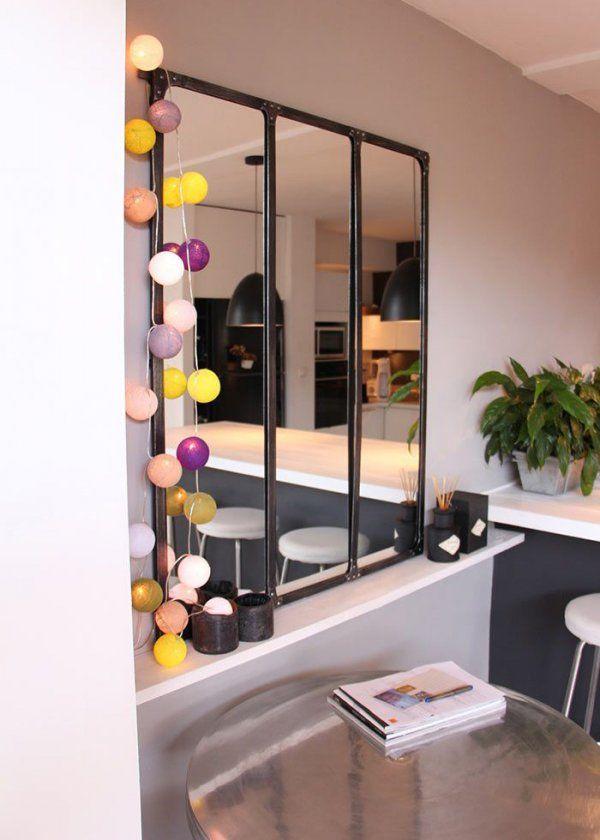 Un miroir comme une verrière pour créer une illusion d'optique // Mirror like a glass wall