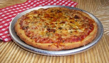 Gluten-Free Cheese Pizza  Recipe: Gluten Free Two Cheese Pizza