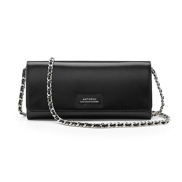 Luxurious Satin Concetta Wallet in Black