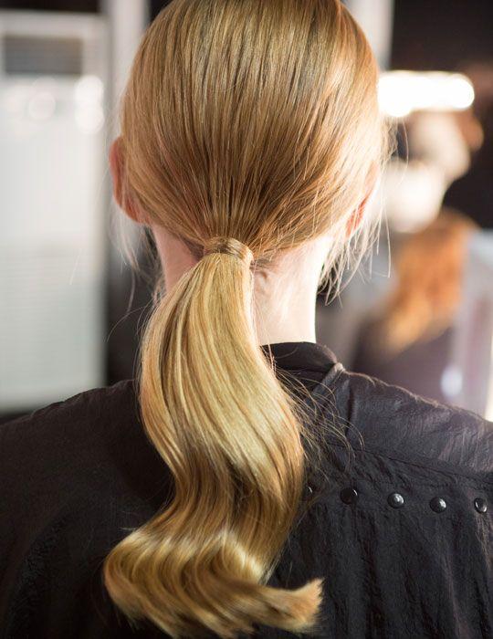 Curl ponytail at Sibling, beauty trends at London Fashion Week