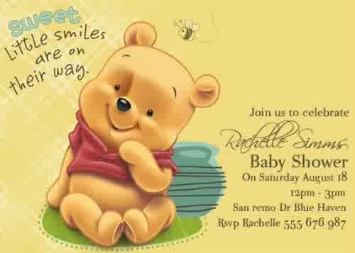 21 winnie the pooh baby shower invitations templates – unitedarmy, Wedding invitations