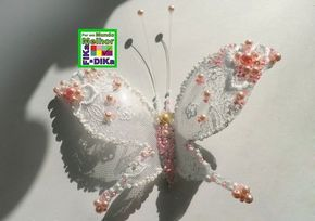 Me encantei por essa borboleta. Ela pode servir para decorar arranjos mais sofisticados.   Vamos ao passo a passo: