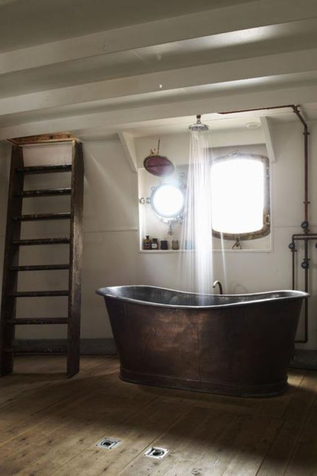 Very cool idea for a free standing tub
