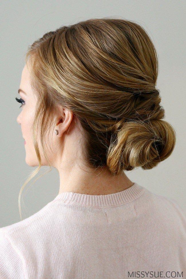 twisted knot bun women's