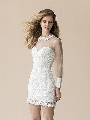 Trending Moonlight Tango T Alencon Lace boho wedding dress is your perfect choice for a casual