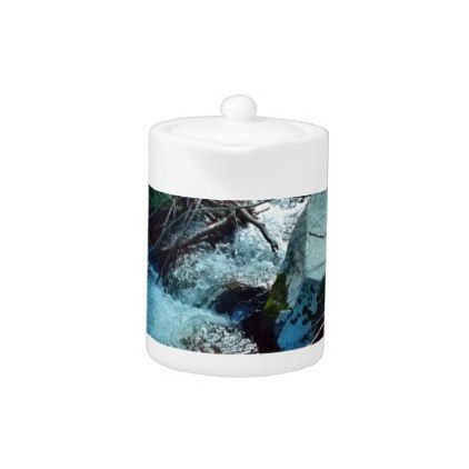 Wild Forest River Teapot - photography picture cyo special diy