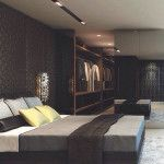 masculine-bachelor-pad-bedroom-with-closet-design