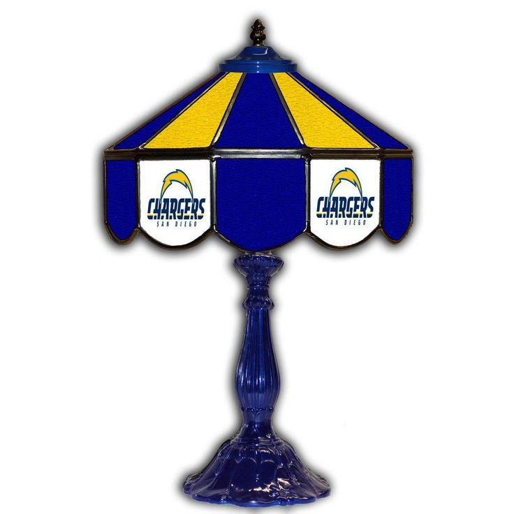 San Diego Chargers 21т Tiffany Style Table Lamp w/ Glass Base