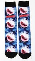 The Asylum Sharknado 3 Sublimated Crew Socks Shark Adult Movie Costume Accessory