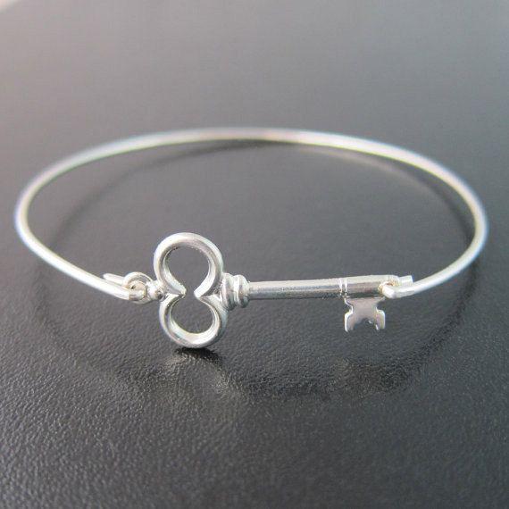 Skeleton Key Bracelet, Skeleton Key Bangle, Skeleton Key Jewelry, Victorian Jewelry Theme, Victorian Key, Frosted Willow Bangle Bracelets