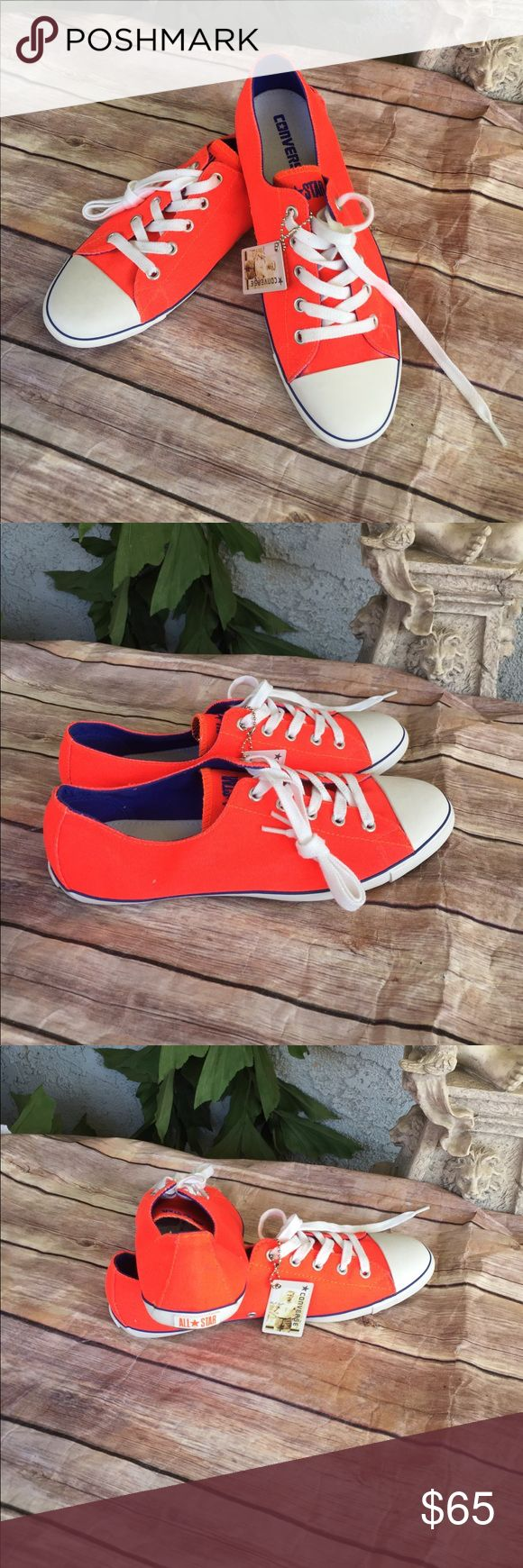 Converse all stars neon orange 81/2 women's New Converse all star size women's 81/2 new no box Converse Shoes Athletic Shoes