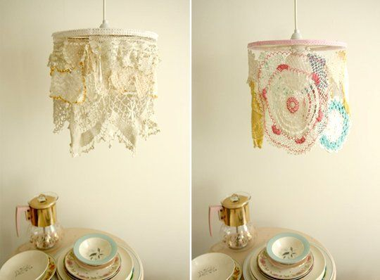 Doilies and Lace Lampshades | Apartment Therapy