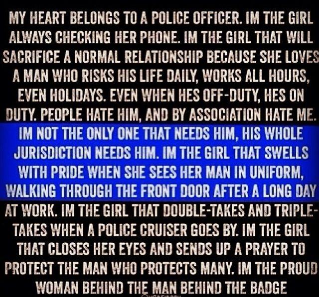 Police officer girlfriend