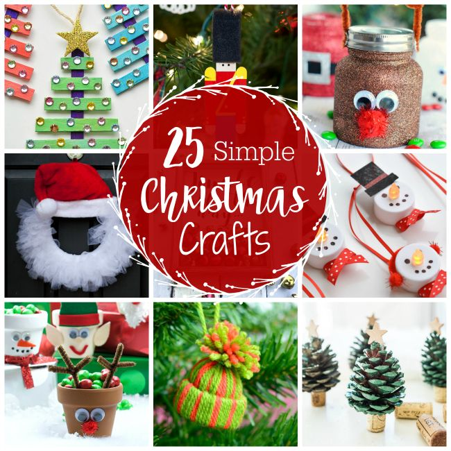 Looking for some simple Christmas crafts for kids or for yourself? Here are 25 ideas for all ages that will put you in the holiday spirit!